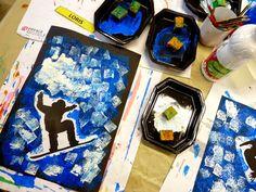 Le Journal de Chrys: Nos skieurs Monthly Themes, Sports Art, Dream Decor, Kids House, Preschool Crafts, Rock Art, Art For Kids, Art Projects, Journal