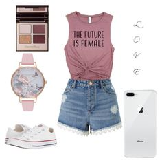 """Untitled #110"" by tommy-coma on Polyvore featuring Miss Selfridge, Converse and Olivia Burton"