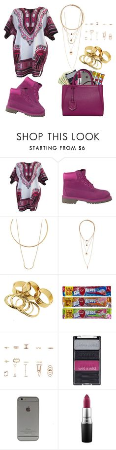 """""""Dashiki"""" by life957 on Polyvore featuring Timberland, Charlotte Russe, H&M, Wet n Wild, MAC Cosmetics and Fendi"""
