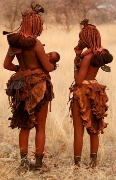 Himba Mother (not tuareg, hence the fusion) love the skirts
