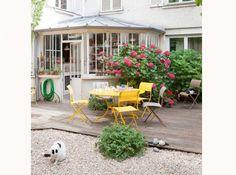 Terrasse de jardin bois fermob