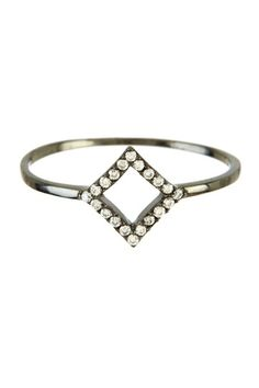 Cutout Square Ring by Charming Statements on @HauteLook