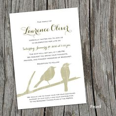 Modern Mourning Cards for Memorial Funeral by FoxDigitalDesign, $22.50