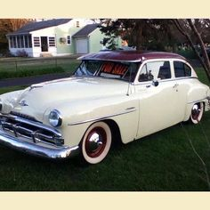 1951 Plymouth Retro Cars, Vintage Cars, Antique Cars, American Classic Cars, Classic Trucks, Dodge, Plymouth Cars, Us Cars, Old Trucks