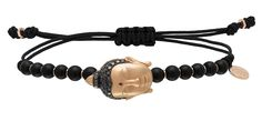 Cellini Jewelers Pippo Perez Tibet Buddha Through creative imagination and inspiration from Tibet, comes this exquisitely detailed 18 karat rose gold Buddha head, with .59 carats of black diamonds and a single ruby set on the forehead.