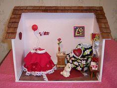 Valentine Miniature Dollhouse Furnished Room Box Mary Engelbreit Accents OOAK   eBay