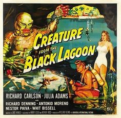 Creature from The Black Lagoon Movie Poster Vintage 2   eBay
