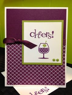 handmade greeting card, new year's eve, cocktail, cheers, green and purple, candy dots, birthday card, DIY, demonstrator, paper crafting, easy, stamping, greeting card, craft, paper, *Stampin' Up, by Amy Frillici, Gathering Inkspiration Stamp Studio, order products online at amysuzanne.stampinup.net