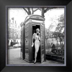 Lucinda in a Telephone Box, London, 1959 Posters by Georges Dambier - at AllPosters.com.au