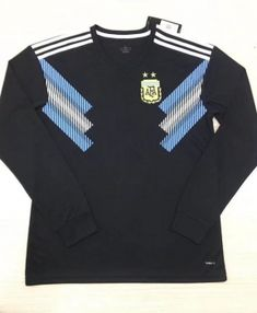 c40a3e0ce39 2018 World Cup Jersey Argentina LS Away Replica Black Shirt 2018 World Cup  Jersey Argentina LS Away Replica Black Shirt