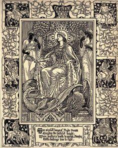 Walter Crane 'The Faerie Queene, Book I' by Edmund Spenser