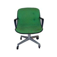 Mid-Century Modern SteelCase Vintage Green Office Chair