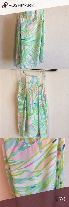 Lilly Pulitzer Silk tank Lilly silk tank Lilly Pulitzer Tops Tank Tops