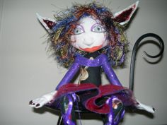 Magical 12 Seated Pixie Art doll Done in by CreativeDollsandsuch, $20.00