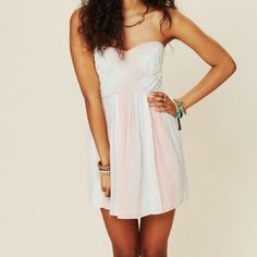 Free People Strapless Summer Dress