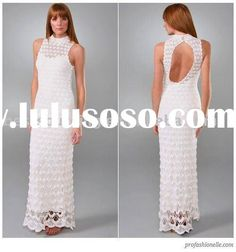lady scallop pattern maxi hand made crochet dress womens maxi floor lenght wedding  for sale - Price,China Manufacturer,Supplier 1130996