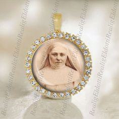 St. Marie Amandine Medal Catholic Gold Tone Jewelry NEW by ElDotti