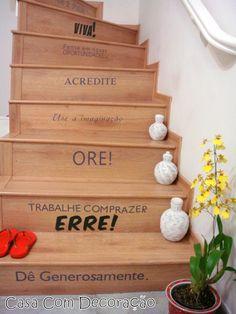 Design e Decoração- Blog de Decoração: Decoração- Escada Que Fala