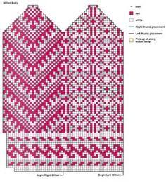 Baby Hats Knitting, Fair Isle Knitting, Knitting Charts, Knitting Stitches, Knitting Socks, Hand Knitting, Knitted Hats, Knitting Patterns, Mittens Pattern