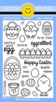 A Good Egg Photo-polymer Stamps - Sunny Studio Stamps More