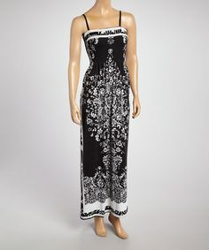 Look what I found on #zulily! White & Black Paisley Maxi Dress - Women #zulilyfinds