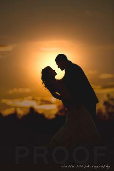 sunset wedding photo, perfect for beach wedding