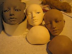 Three days, one mission: to sculpt a doll head, mold it in silicone, and cast it in polyurethane resin. This photoset documents the process at the the BJD workshop held at Dollfair just outside Cleveland, on October 3-5, 2008.
