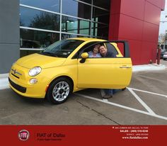 https://flic.kr/p/F2Jysp   Congratulations William on your #FIAT #500 from Jessica Rubio at Fiat of Dallas!   deliverymaxx.com/DealerReviews.aspx?DealerCode=F741