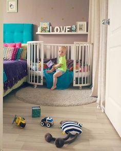 Multicolored Nursery Inspiration Featuring The Stokke Sleepi Baby  Crib/toddler Bed .