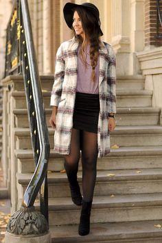Primark Coat, Vero Moda Skirt, Primark Shirt, Clarks Shoes
