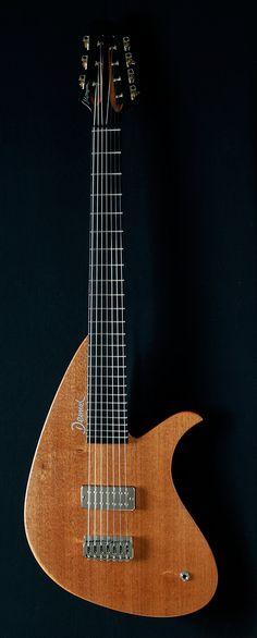 Deimel Mompou 7-string onepiece mahogany guitar