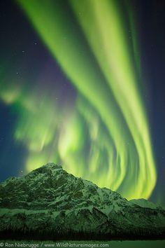 Northern Lights over the Brooks Range, near Wiseman, Alaska.