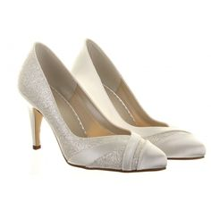 Buy Rainbow Club Mila Extra Wide Fit Glitter Satin Strip Court Shoes, Ivory, from our Womens Shoes, Boots & Trainers range at John Lewis. Wide Fit Bridal Shoes, Satin Wedding Shoes, Satin Shoes, Wide Shoes, Satin Pumps, Low Heel Shoes, Bridal Heels, Women's Shoes, Glitter Pumps