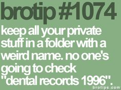Great idea. Until I forget what obscure folder I filed things under. < It sucks getting old >