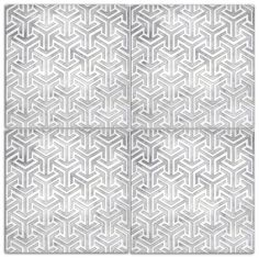 Interlude tile collection - Kitchen / Floor / Bathroom tile - Grey and white - Geometric pattern