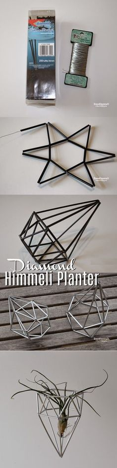 Diamond Himmeli Planter! Perfect for hanging up air plants or just plain looking awesome!