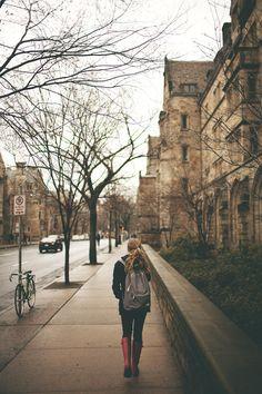 rainy day at Yale