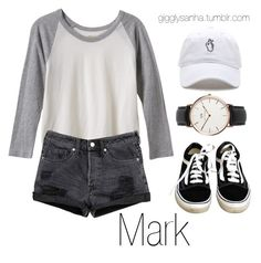 """""""Concert // Mark"""" by suga-infires ❤ liked on Polyvore featuring Vans, Daniel Wellington and RVCA"""