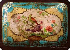 Antique bird tin