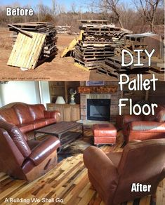What an incredible pallet repurposing idea - beautiful wood floors! This is a project to definitely see, even if you don't plan to have new floors as it provides so much inspiration for old pallets and ways to use old pallets.