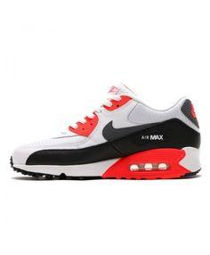 Nike Air Max 90 Essential Running Shoes White Infrared Black Cheap