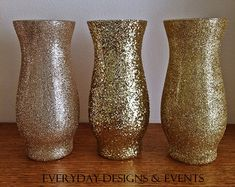 You will receive 1 Beautiful Glittering Glass 7 Jardin Vases with a Ribbon Around the vase neck (color intensity may appear brighter in person), PER QUANTITY. The vases in this particular listing are decorated in glitter, and sealed to reduce glitter shedding. Specifics/Measurements: 7-tall Jardin glass vases with 3 3/8 opening. More color ribbon: hot pink, light pink, coral, red, gold, royal blue, black, mint green, emerald green, purple, lavender, burgundy, ivory, orange, brown, a...