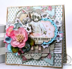Life is Sweet All Occasion Greeting Card Polly's Paper Studio Handmade
