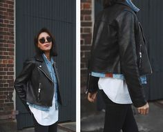 Classic @nobodydenim #nobodydenim #signature247 #ootd #denim #leather