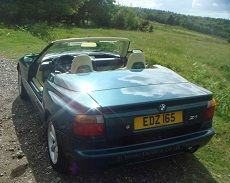 BMW Z1 rear view with the doors down
