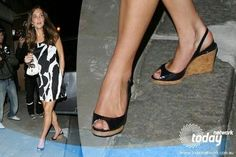 Kate Middleton shoes | LK Bennett cork slingback wedges | Kate Middleton's shoes