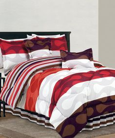 Take a look at this Orange Donelly Reversible Comforter Set by Duck River Textile on #zulily today!