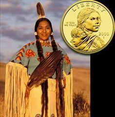 Randy'L Hedow Teton - Shoshone tribe. Posed for the likeness on the  2000 US gold $1 coin. She is the only person currently living who's image is on US currency.