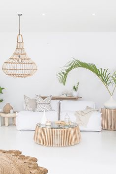 Featuring Uniqwa's Masekela Sofa 🍃✨ Lindi Coffee ➳ Yaana Pendant Light ➳ Styling & Photography 📷 ➳ Cushions by ♡✔ White Room Decor, Living Room White, Boho Living Room, Decor Room, Living Room Decor, Living Spaces, Living Rooms, My New Room, Living Room Designs