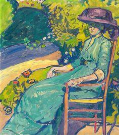Junge Frau Im Garten (Amy Moser), 1910 - Cuno Amiet - WikiArt.org